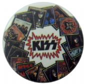 Kiss - 'CD Covers' Button Badge